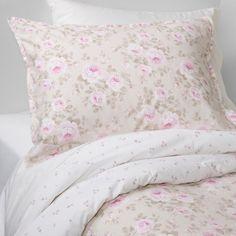 Dutchess Blossom Duvet & Sham Set - Tan - Simply Shabby Chic, Brown Pink White Yellow