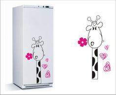 Adesivo geladeira girafa