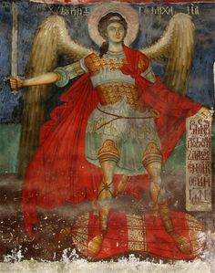 An Orthodox fresco from a church from Moscopole, today Voskopojë, Albania.