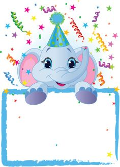 Baby Elephant Birthday by Anna Velichkovsky, via Dreamstime Elephant Birthday, Baby Elephant, Elephant Party, Happy Birthday, Birthday Wishes, Birthday Invitation Templates, Birthday Party Invitations, Party Frame, Birthday Clipart