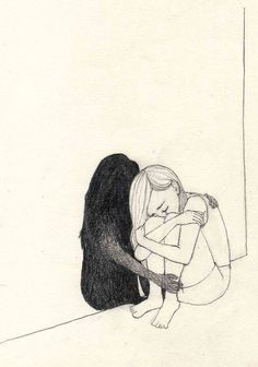 Drawing sad girl with pencil, easy - Trend Sister Quotes 2019 Sad Drawings, Dark Art Drawings, Pencil Art Drawings, Art Drawings Sketches, Tumblr Drawings Easy, Art Inspo, Inspiration Art, Art Noir, Art Du Croquis