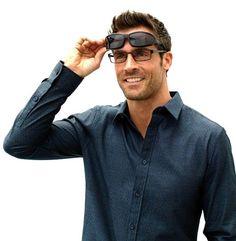 Solar Shield 'fits over' sunglasses fit perfectly over prescription glasses.