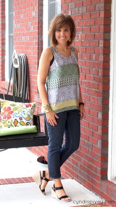 Summer Fashion-Classic Tank  This tank is just adorable and fun!