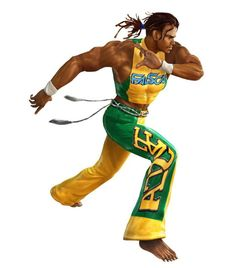 Eddy Gordo is a character in the popular fighting game series Tekken. He was introduced in Tekken 3 and uses capoeira as his fighting style. Martial Arts Games, Tekken 3, Human Poses Reference, Black Cartoon, King Of Fighters, Video Game Characters, Fighting Games, Best Funny Pictures, Workout