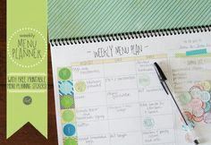 DIY yearly menu planner with free printable menu planning stickers. i feel so organized!! :)