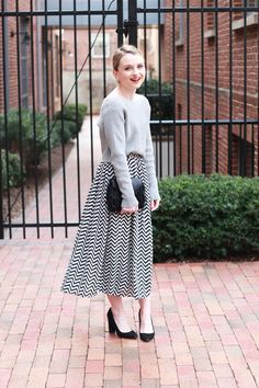 Poor Little It Girl - Crop Sweaters and Midi Skirts for Winter