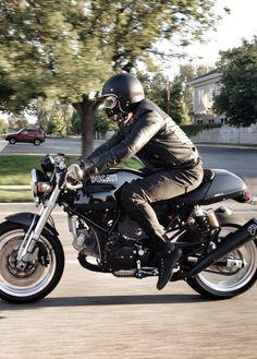 uglyBROS-USA TONUP jeans on Ducati Sportclassic