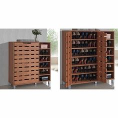 a934bb53a7d Baxton Studio Shirley Modern   Contemporary Wood 2-Door Shoe Cabinet ...