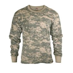 Mens Army Digital Camo Long Sleeve T-shirt  Price:$8.99 - $16.99