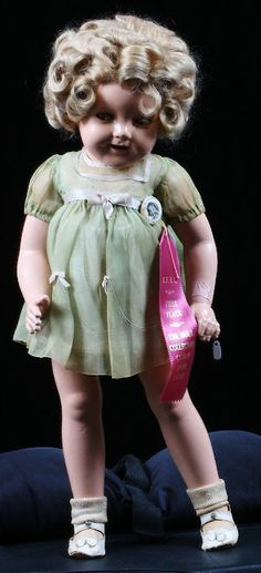 ~ Shirley Temple Doll ~  What a beauty, I can understand why she wins ribbons at doll shows.