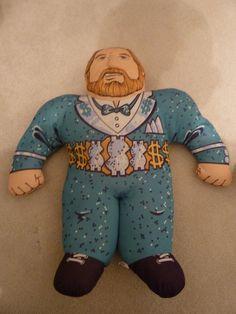 Million Dollar Man Ted Dibiase WWF WWE Wrestling Buddies Vintage Plush Figure Toy