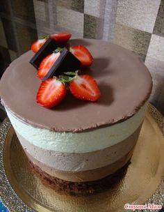 """Нежный торт-мусс """"Три шоколада"""""""