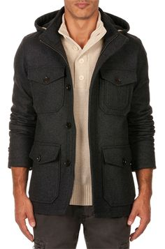 13 Men's Winter Fashion Coats and Jackets: Country Road Wool Blend Parka. #Stylish365