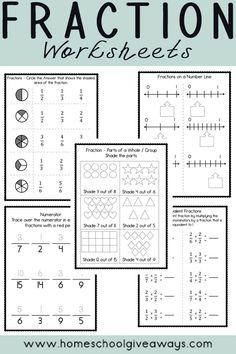 FREE Fractions Worksheets for Upper Elementary