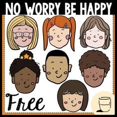 No Worry Be Happy FreebieThis set of No Worry Be Happy clipart is ready for you to put into your clipart collection! All images are 300dpi which give better qualities when it comes to scaling and printing. You will receive 7 color images and 7 black-and-white images.Cheers to all the hard work we ha... White Image, Colour Images, Classroom Management, Hard Work, How To Stay Healthy, No Worries, Cheers, Things To Come, Printing