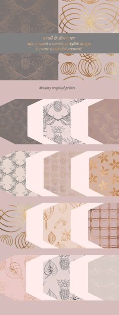 Autumn Gold Patterns & Illustrations by Laras Wonderland on @creativemarket (affiliate) Love these pretty fall patterns