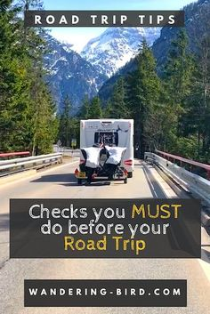 Last Minute Vehicle checks before your European Road Trip. Things to check in your campervan or motorhome - here's everything you need to know! Road Trip On A Budget, Road Trip Checklist, Road Trip Planner, Road Trip Packing, Road Trip Europe, Road Trip Games, Road Trip Destinations, Road Trip Essentials, Road Trip With Kids
