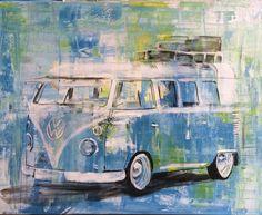 VW T1, gemalt, Art, Kunst, Bulli
