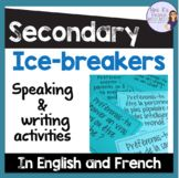 Mme R's French Resources Teaching Resources | Teachers Pay Teachers English Activities, Writing Activities, Teacher Resources, Teacher Pay Teachers, French Stuff, French Resources, Back To School Activities, Ice Breakers, First Day Of School