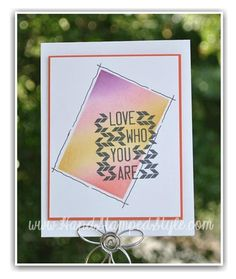Simple fall inspired card Love Who You Are stamp and masking technique from http://www.handstampedstyle.com check out my site for daily inspiration.