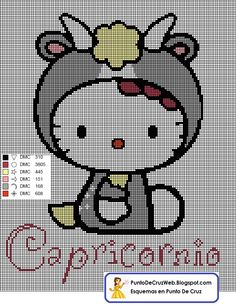 Punto De Cruz Horoscopo Hello Kitty Capricornio
