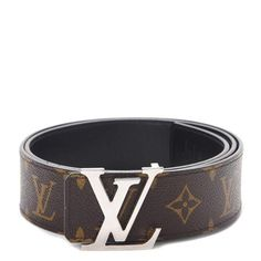 b7bb80627984 Louis Vuitton Belt LV Initiales Reversible 1.5 Width Monogram Noir  Black Brown