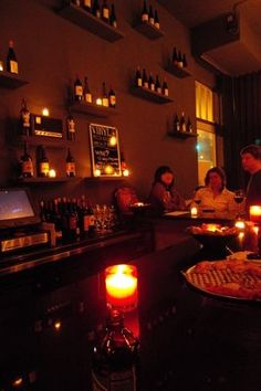 Photos for Vinyl Wine Bar | Yelp...cool candlelit bar in SF