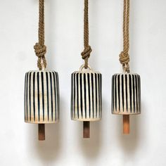 Tall WTS Indigo Striped Bells: Remodelista More