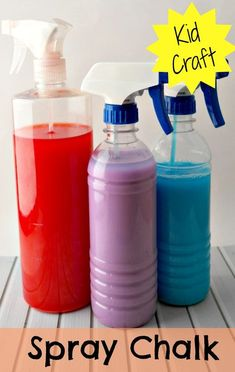 DIY Spray Chalk ~ Perfect outdoor activity for kids.