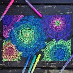 Oh, and it makes me wonder. Makes Me Wonder, Doodles Zentangles, Black Paper, My Drawings, Drawing Style, Cool Stuff, Pens, Instagram Posts, Flowers