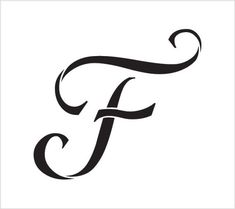 F Graceful Monogram Stencil Select Size by Stencils For Wood Signs, Letter Stencils, Monogram Stencil, Monogram Letters, Tribal Letters, Graffiti Doodles, Mommy Tattoos, Decorative Lines, Presentation Design Template