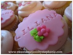 stamped name fondant toppers