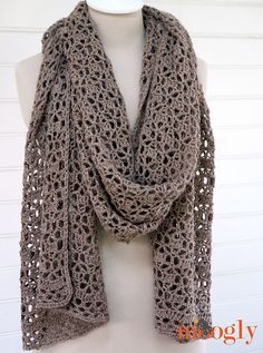 The stitch pattern is reminiscent of falling leaves, and combined with the border detailing it's both feminine and modern. It's extra long in length - perfect for those of us who aren't a size 2 - and both light and cozy warm at the same time. Wear it over your shoulders like a traditional wrap or stole, wind it around your torso like a clever sweater, or bunch it up around your neck as an oversize scarf. No matter how you wear it, it just screams luxury!