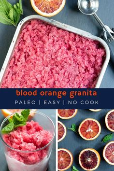 Blood orange granita is a tart and sweet seasonal treat that refreshes the palate, delights the sweet tooth just enough, and is oh so simple to make! Paleo Ice Cream, Easy Ice Cream Recipe, Gluten Free Treats, Paleo Treats, Paleo Chef, Winter Dishes, Paleo Cookies, Paleo Baking, Paleo Dessert