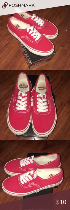 RED LEVIS SHOES Red Levi's shoes. Gently worn. 8/10 condition Levi's Shoes Sneakers