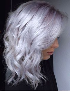 36 White Platinum Blonde Hairstyle Design Ideas To Evaluate Your Look – Page 27 of 36 – Latest Fashion Trends For Woman Blonde hair models – Hair Models-Hair Styles Ice Hair, Ice Blonde Hair, Platinum Blonde Hair Color, Silver Blonde Hair, Lilac Hair, Pastel Hair, Silver Lavender Hair, White Blonde, Silver Platinum Hair