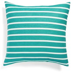 kate spade new york 'harbour stripe' euro sham ($60) ❤ liked on Polyvore featuring home, bed & bath, bedding, bed accessories, turquoise, stripe bedding, turquoise bedding, striped bedding, kate spade y textured bedding