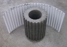 Fluted Insert for the Tuscany Column , Tuscany Column - HistoryStones, History Stones - 2 Diy Concrete Planters, Mix Concrete, Concrete Molds, Concrete Crafts, Concrete Garden, Concrete Projects, Diy Planters, Concrete Column, Succulent Planters