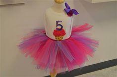 Colorful cupcake birthday outfit. www.stylotutuboutique.com  #stylotutuboutique #cupcaketutu #personalized #littlegirl  #girlsbirthday