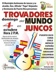 Trovadores del Mundo en Juncos #sondeaquipr #trovadoresdelmundo #plazaantoniorbarcelo #juncos