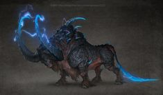 Orinaka; a.k.a.: The Steed of Clapping Thunder- the steed of the thunder god, able to channel lightning through its massive horns and cause booming thunder to be heard from its hooves hitting the ground when it runs.
