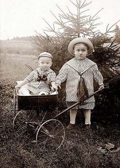 cute siblings, the older looks startled