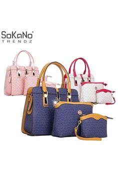 Sokano Trendz 012 Tote Bags Set Of 3 Blue Online At Lazada Malaysia