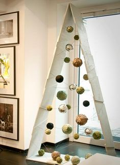 triangular holiday tree