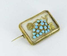 Antique Victorian Mother of Pearl Grape Pin  by vintagejewelrylane, $74.99