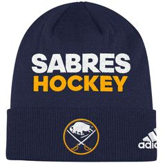 6dab61907d6 Men s Buffalo Sabres adidas Navy Locker Room Cuffed Knit Hat