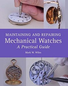 A book written by an experienced watch repairer aimed at the novice as well as those with more experience. Full of advice and tips it has excellent step-by-step photographs with accompanying text, demonstrating how to maintain a mechanical watch and how to identify problems and correct them.