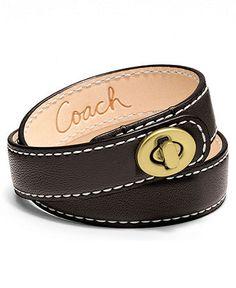 Coach Double Wrap Leather bracelet