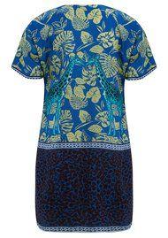 CHARLOTTE SPARRE Silk Printed Super Dress - Cobalt