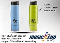 Gifts for Cyclists Men - Waterproof Portable Bluetooth Speaker Thermos, Stainless Steel, Vacuum Insulated, Outdoor Speaker Tumbler. Includes FM Radio. Sports Water Bottle, Hot/Cold Cup Mug, 400mL   #WallMountRackForBikes Wall Mount Rack, Vacuum Cup, Outdoor Speakers, Cyclists, Drinkware, Tumbler, Bluetooth, Vacuums, Carnival